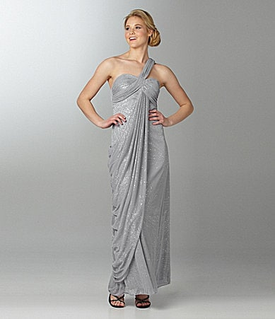 Blondie Nites Draped One-Shoulder Dress