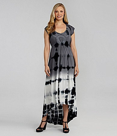 One World Apparel Tie-Dye Maxi Dress