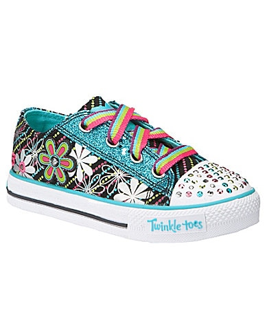 Skechers Girls Twinkle Toes-S Lights Shuffles Dashin Daisy Sneakers
