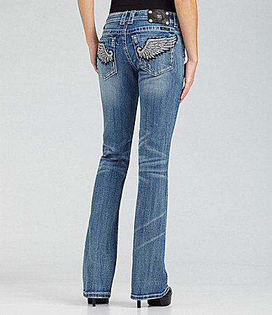 Miss Me Jeans Wing-Pocket Bootcut Jeans
