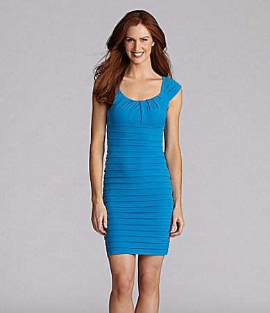 London Times Petites Fitted Matte Jersey Dress