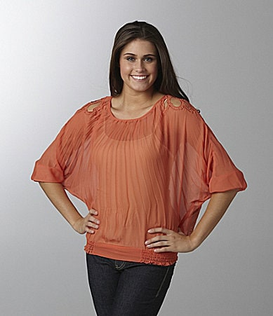 XOXO Pleated Dolman Top