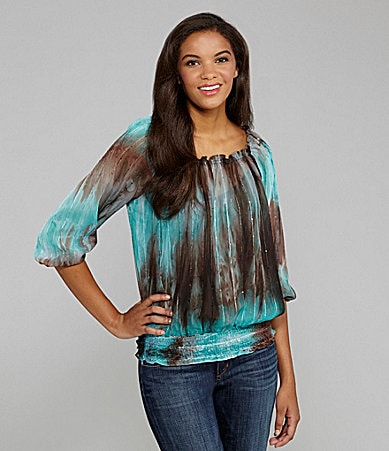 Peter Nygard Woman Tie-Dye Georgette Top