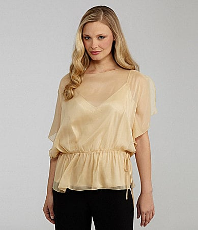 Peter Nygard Chiffon Blouse with Cami