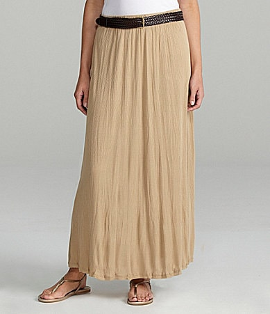 Peter Nygard Woman Crushed Knit Maxi Skirt
