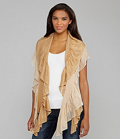 Peter Nygard Mixed-Stitch Shawl Scarf