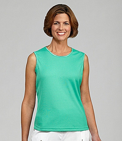 Allison Daley Petites Sleeveless Crewneck Shell