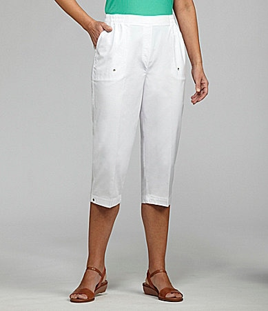 Allison Daley Pull-On Drawstring Capri Pants