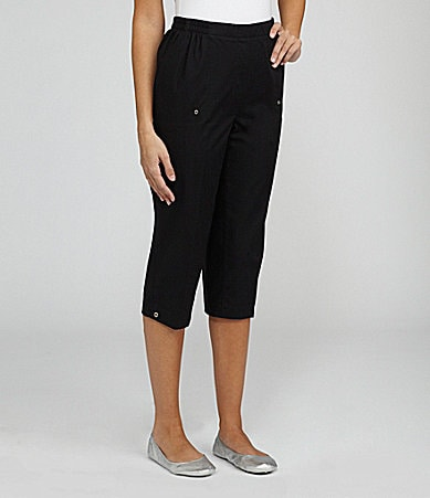 Allison Daley Petites Pull-On Capri Pants