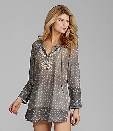 Antonio Melani Swim Bead-Neck Ombre Tunic
