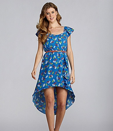 Teeze Me Printed High-Low Dress