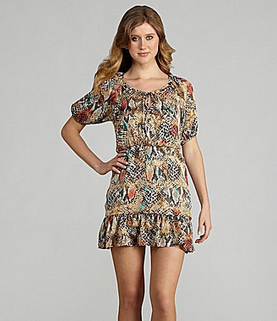 B. Darlin 3/4 Sleeve Printed Dress