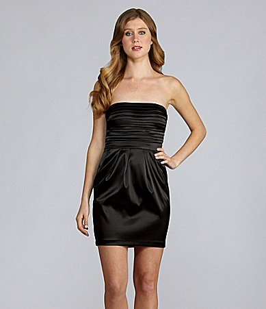 B. Darlin Strapless Pleated Dress