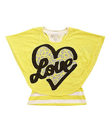 Forever Orchid 7-16 Slub Love Circle Tops