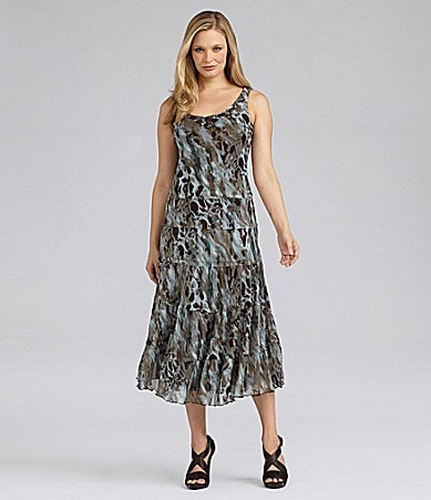 Jessica Howard Woman Beaded Animal-Print Dress