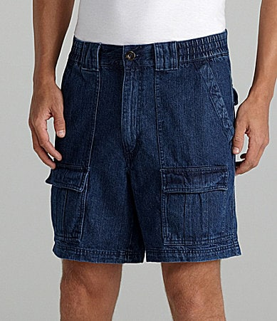 Roundtree & Yorke Denim Hiker Cargo Shorts