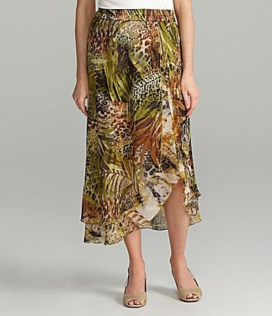 Sunny Taylor Animal-Print Skirt