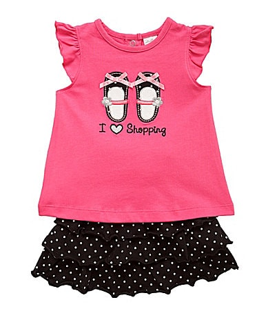 Starting Out Infant Shopping Shoes Top & Shorts Set