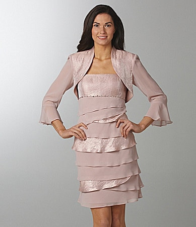 S.L. Fashions Bolero Jacket Dress