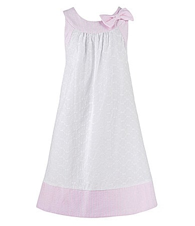 Laura Ashley 2T-6X Eyelet/Seersucker Dress