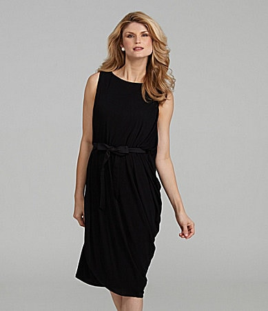 Antonio Melani Carrie Draped Ribbon-Waist Dress
