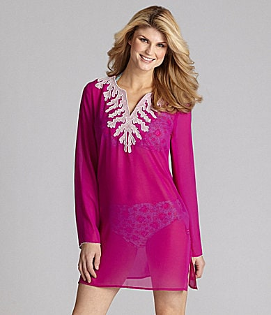 Antonio Melani Swim Solid Coral Tunic Coverup