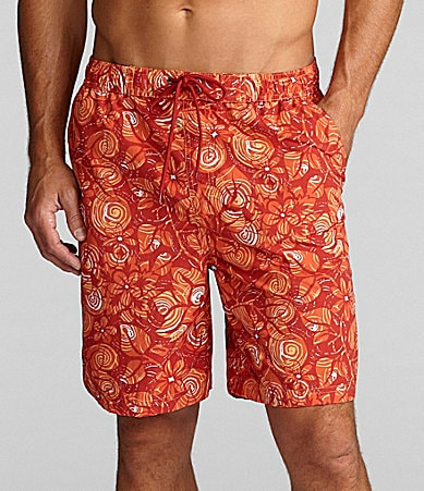 Caribbean Big & Tall Tonal Hibiscus Swim Trunk