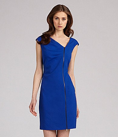 Calvin Klein Cap-Sleeve Dress