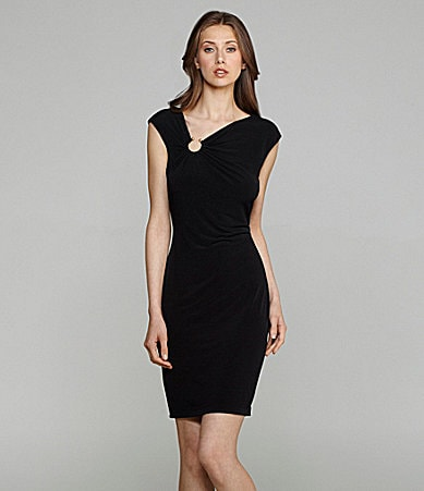 Calvin Klein Matte Jersey Cap-Sleeve Dress