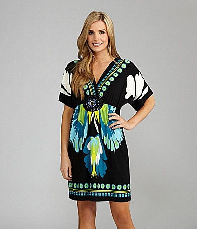 Calessa Floral Print Tunic Dress