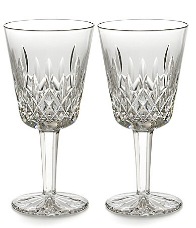 Waterford Lismore 60th Anniversary Collection Classic Lismore Goblet Pair