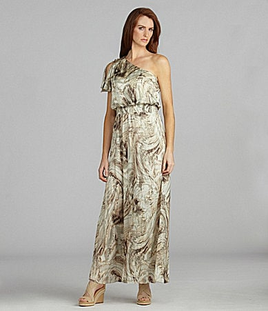 Jessica Howard One-Shoulder Maxi Dress