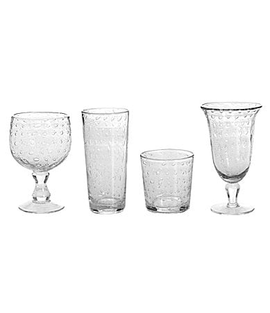 Summer Oasis Clear Bubble-Glass Drinkware Collection