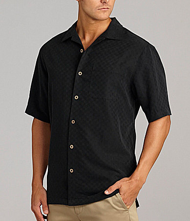 Caribbean Solid Check Textured Shirt