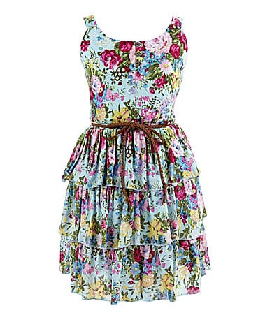 Ruby Rox 7-16 Floral Printed Challis Dress