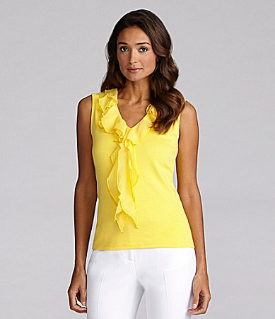 Jones New York Signature Ruffle Top