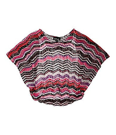 I.N. Girl 7-16 Butterfly Circle Top