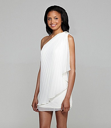 Xscape One-Shoulder Dress
