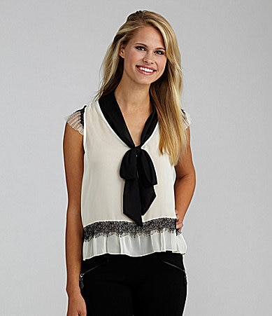Lily White Scarf Top