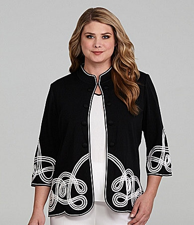 Ming Wang Woman 3/4 Sleeve Jacket