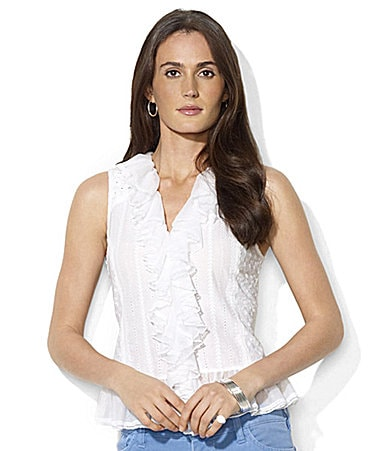 Lauren Jeans Co. Laura Ruffle Top