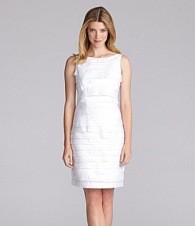 London Times Shutter Pleat Dress