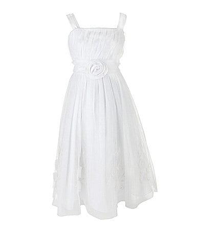 Jayne Copeland 7-12 Mesh Chiffon Dress