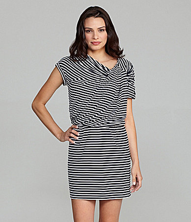 Calvin Klein Twist-Knot Stripe Dress
