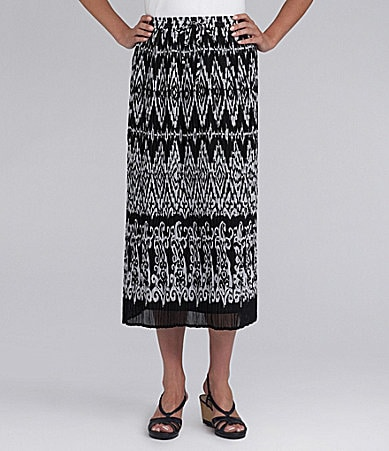 Samantha Grey Woodcut Printed Skirt