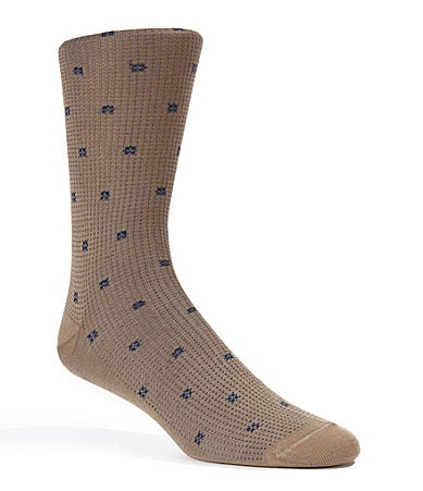 Cremieux Pindots & Squares Dress Socks