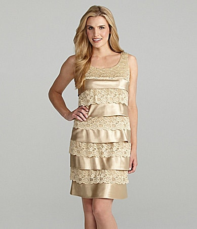 Jessica Howard Sleeveless Tiered Dress