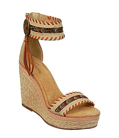 Zodiac USA Seminole Wedge Sandals