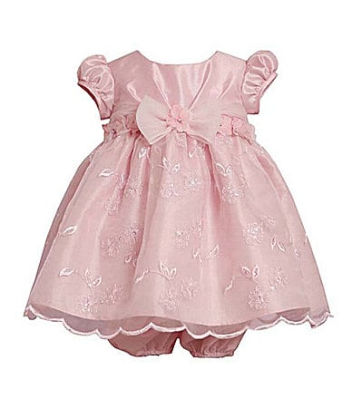 Bonnie Baby Infant Embroidered Organza Dress