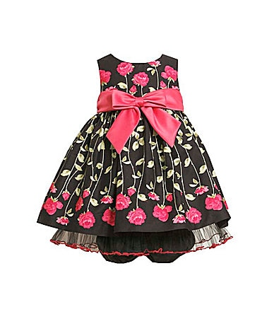 Bonnie Baby Infant Rose Border Print Dress